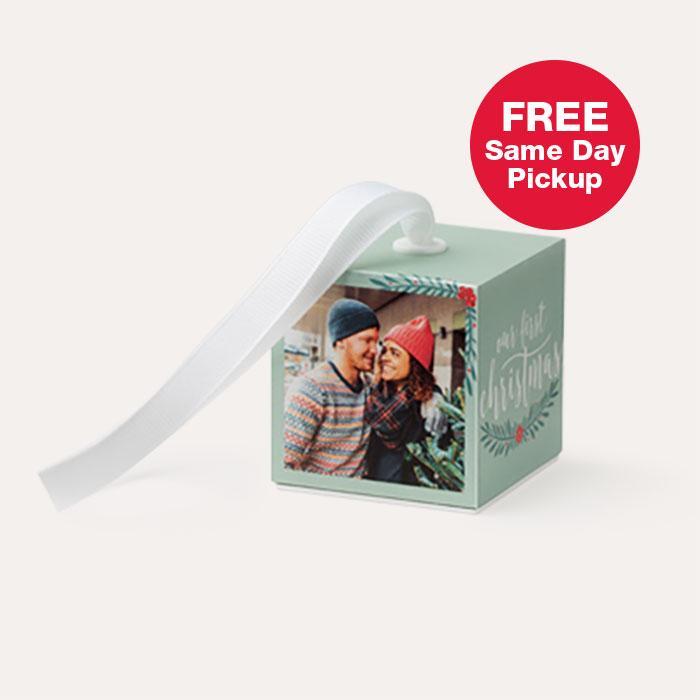 FREE Same Day Pickup. 2x2 Photo Ornament Cube