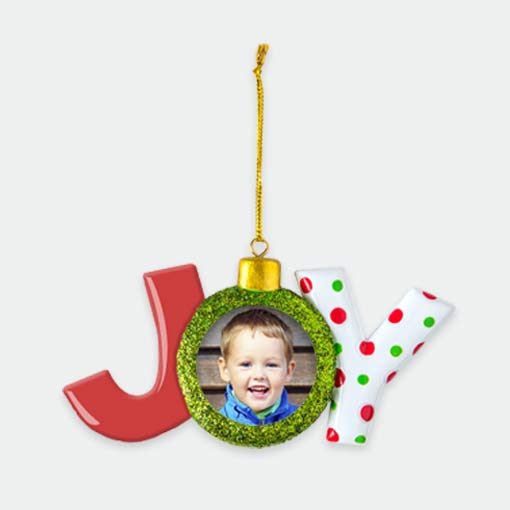 New! Joy Ornament
