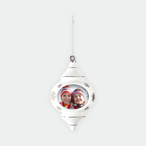 New! Porcelain Teardrop Ornament