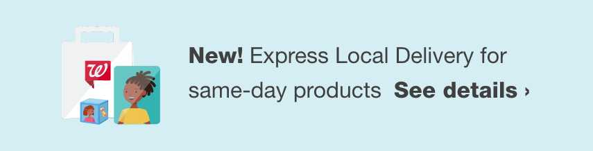 NEW! Express Local Delivery for same-day products. See details