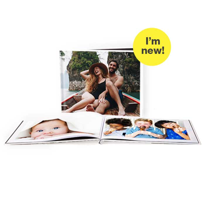 I'm New! 8.5x11 Layflat Custom Cover Photo Books