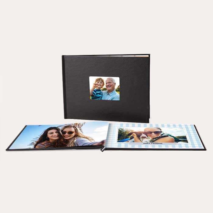 8.5x11 Layflat Window Cover Photo Books