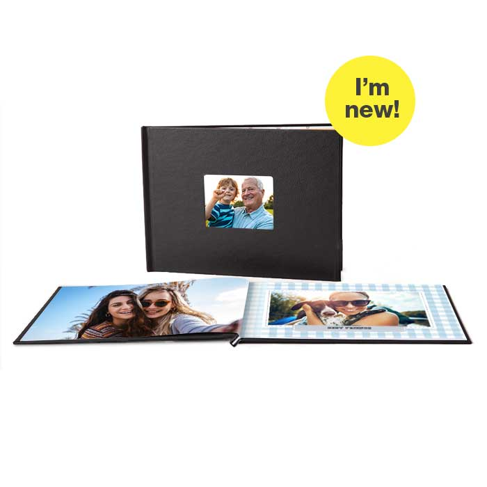 I'm New! 8.5x11 Layflat Window Cover Photo Books