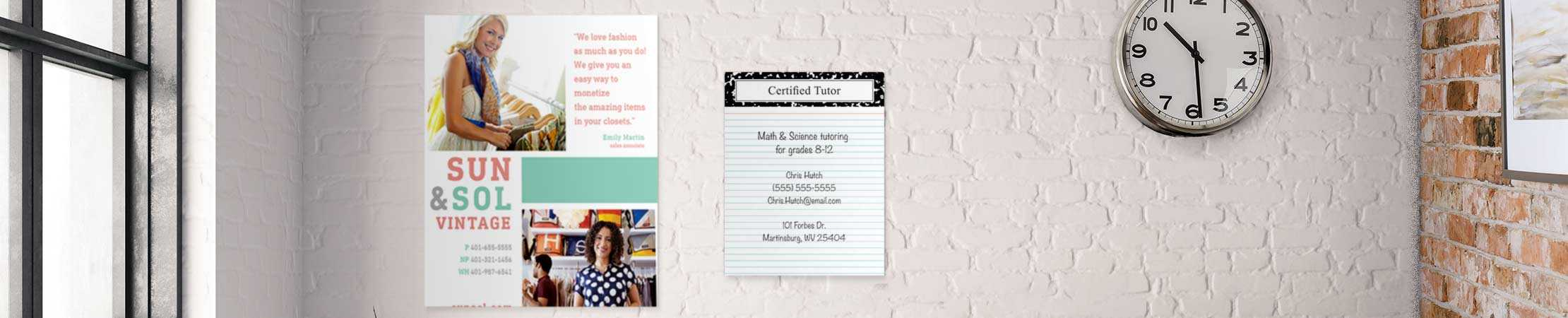Adhesive Business Posters