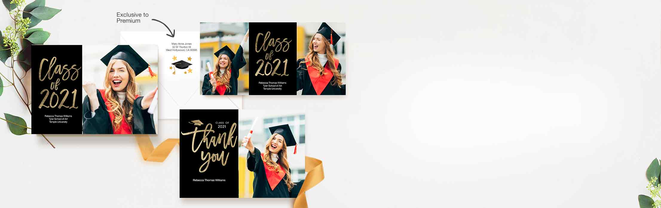 Their future is bright! Send easy-to-make custom cards that celebrate their success.