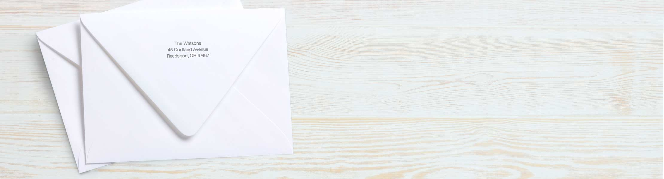 Just seal and send Save time with a pre-printed return address envelope, available now with Premium Cards and Stationery.
