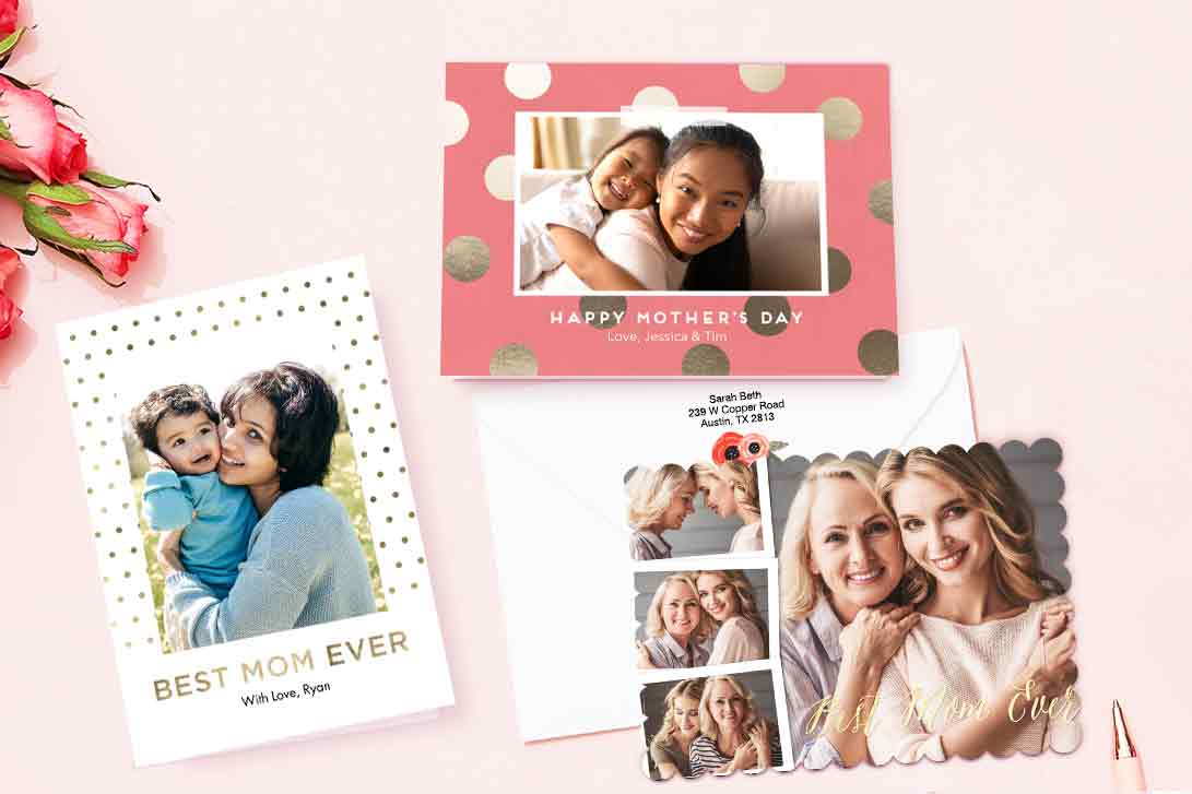 Tell her she's a mother like no other. Give your mom-in-a-million a chic, custom card on our best cardstock.