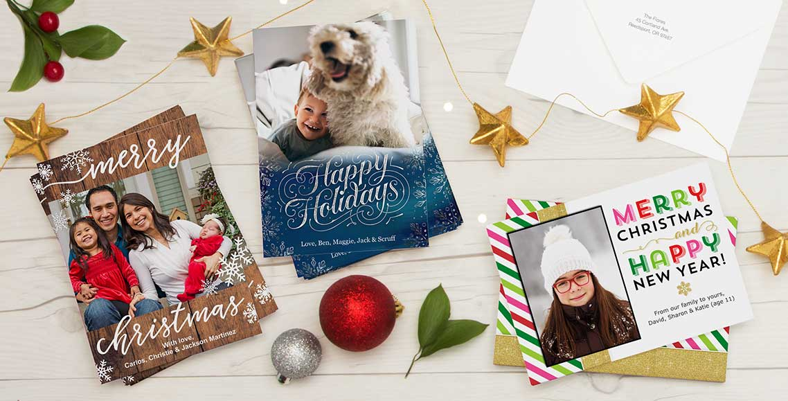 New! Premium Cards Send a one-of-a-kind season's greeting with our new, heavyweight cardstock. Create Christmas Cards ›