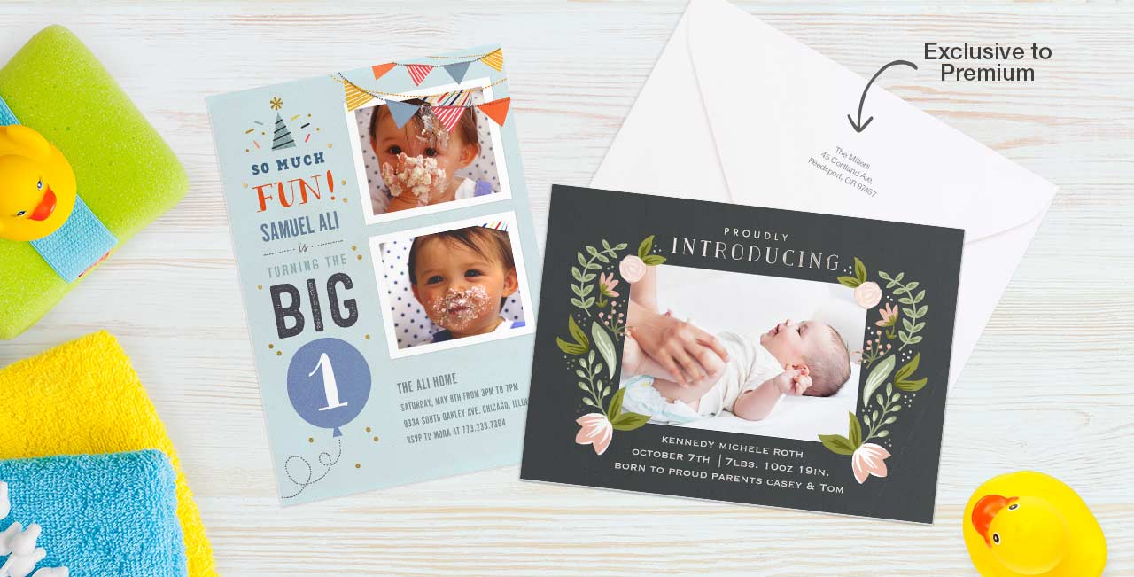 Memorable milestones Celebrate special moments, big and small, with our NEW Premium cardstock.