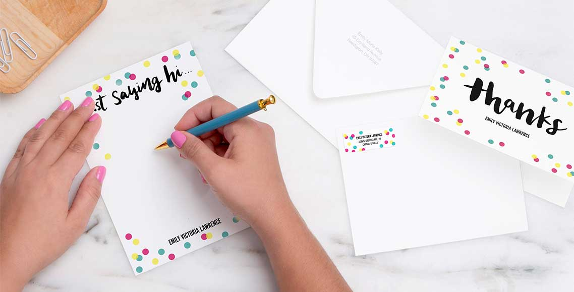 New! Premium Stationery Enjoy stationery as unique as you — featuring our new, heavyweight cardstock.