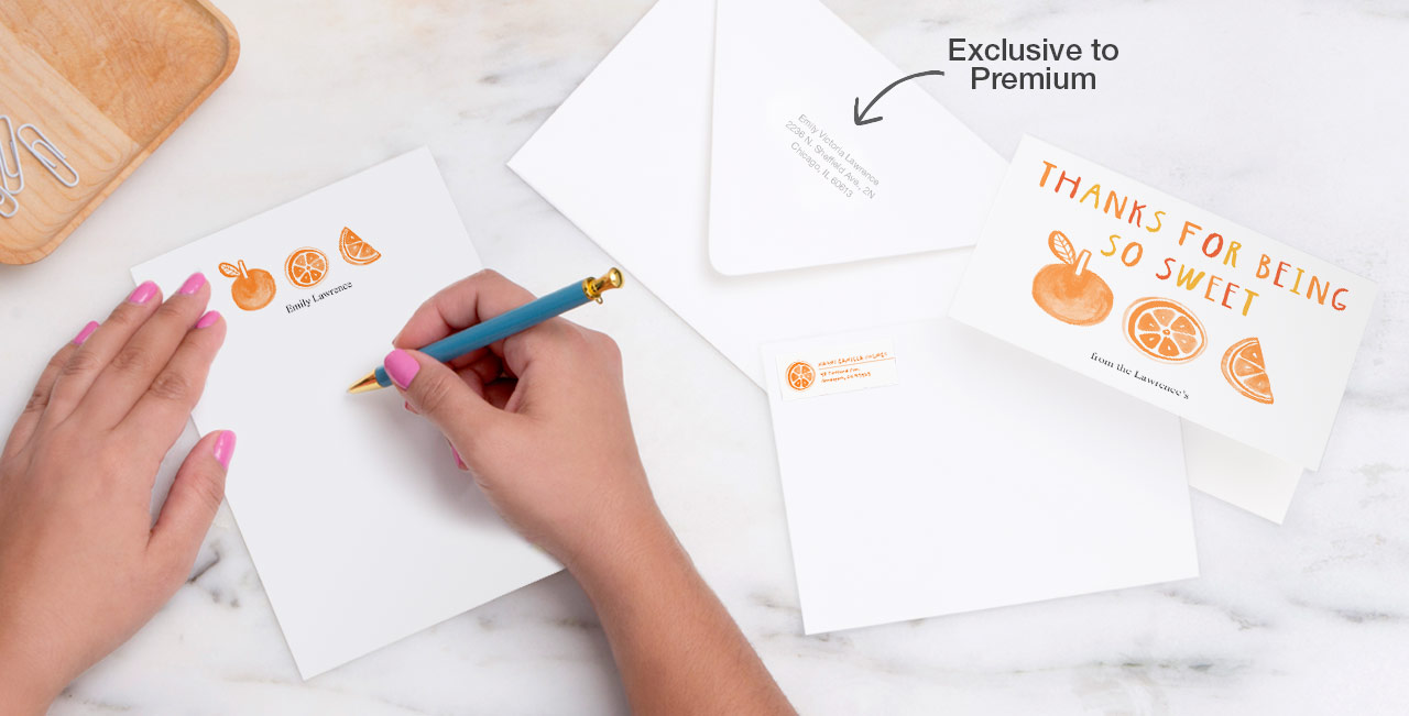 Make it noteworthy Enjoy stationery as unique as you, featuring our new, heavyweight cardstock.
