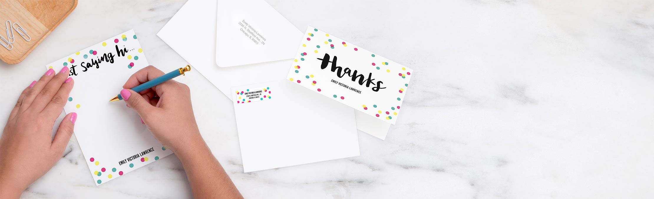 New!Premium Stationery Enjoy stationery as unique as you — featuring our new, heavyweight cardstock.