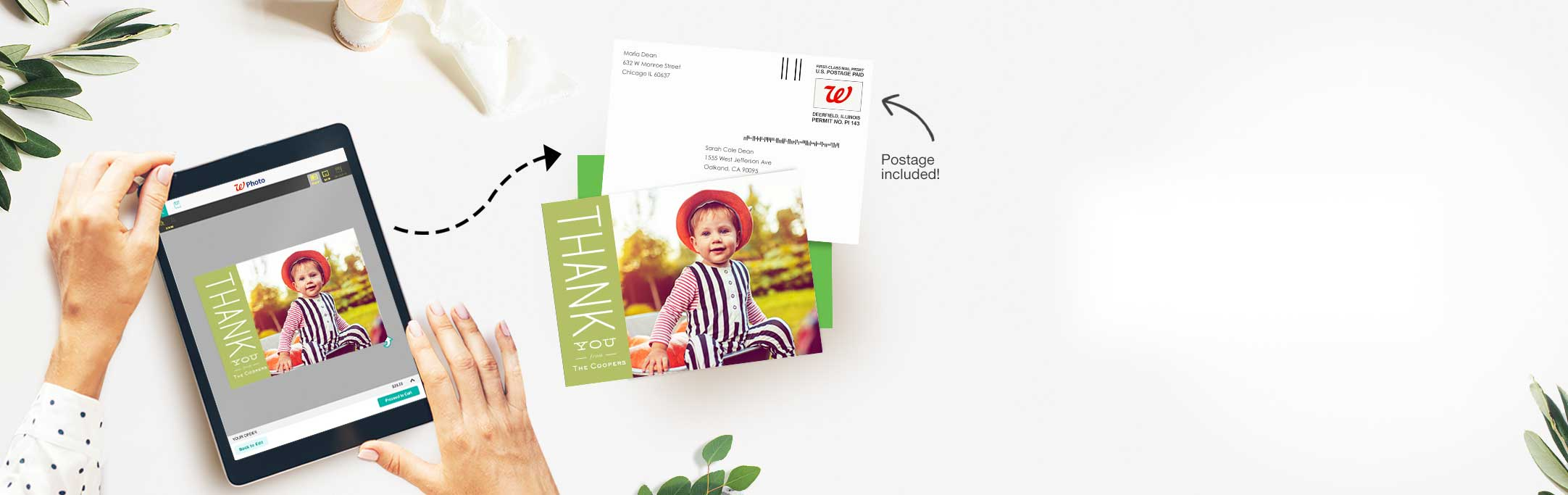 Just a few clicks and it's in the mail. Easily send gorgeous custom  cards—without leaving the house.
