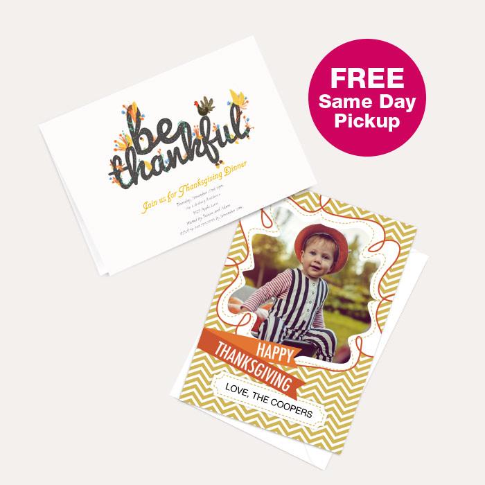 FREE Same Day Pickup. Thanksgiving Cards