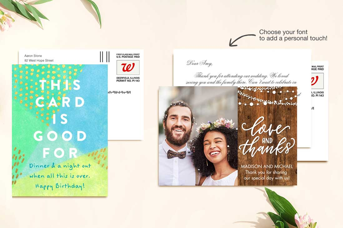 Mail-for-Me Cards. Create & send in moments. Learn more.