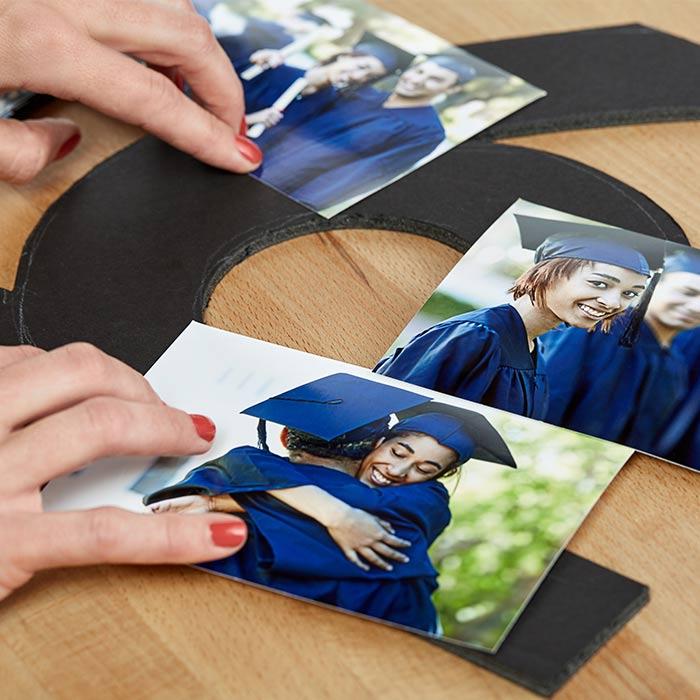 Graduation Photo Collage Display