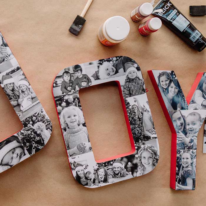 DIY Joy Block Letters