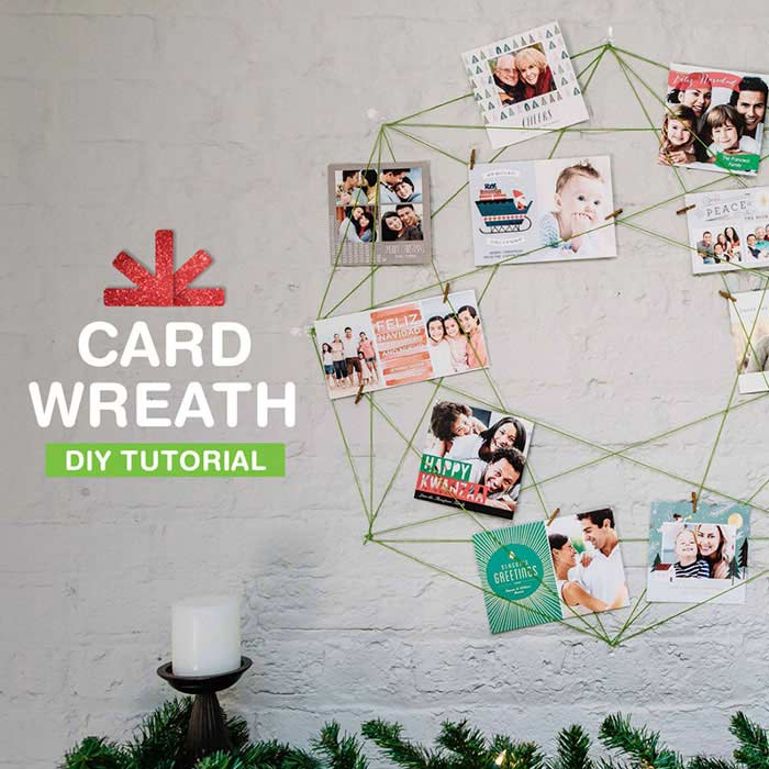 Holiday Photo Card Wreath Tutorial