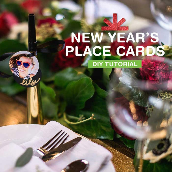 New Year's Eve Place Card Idea