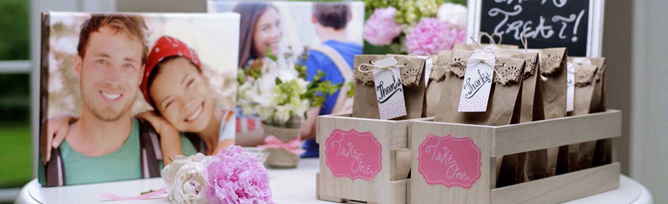 incorporating photo projects into the decorations for the bridal shower will do the trick delight the bride with the following ideas