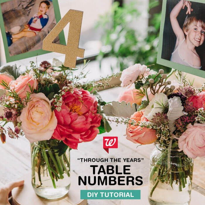Through The Years Table Numbers