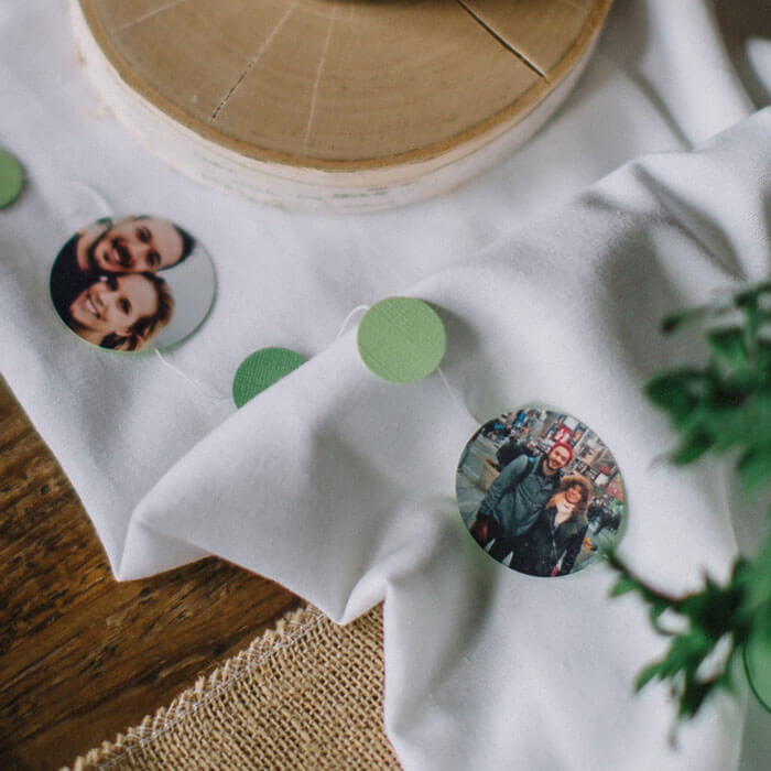 Wedding Table Photo Garland