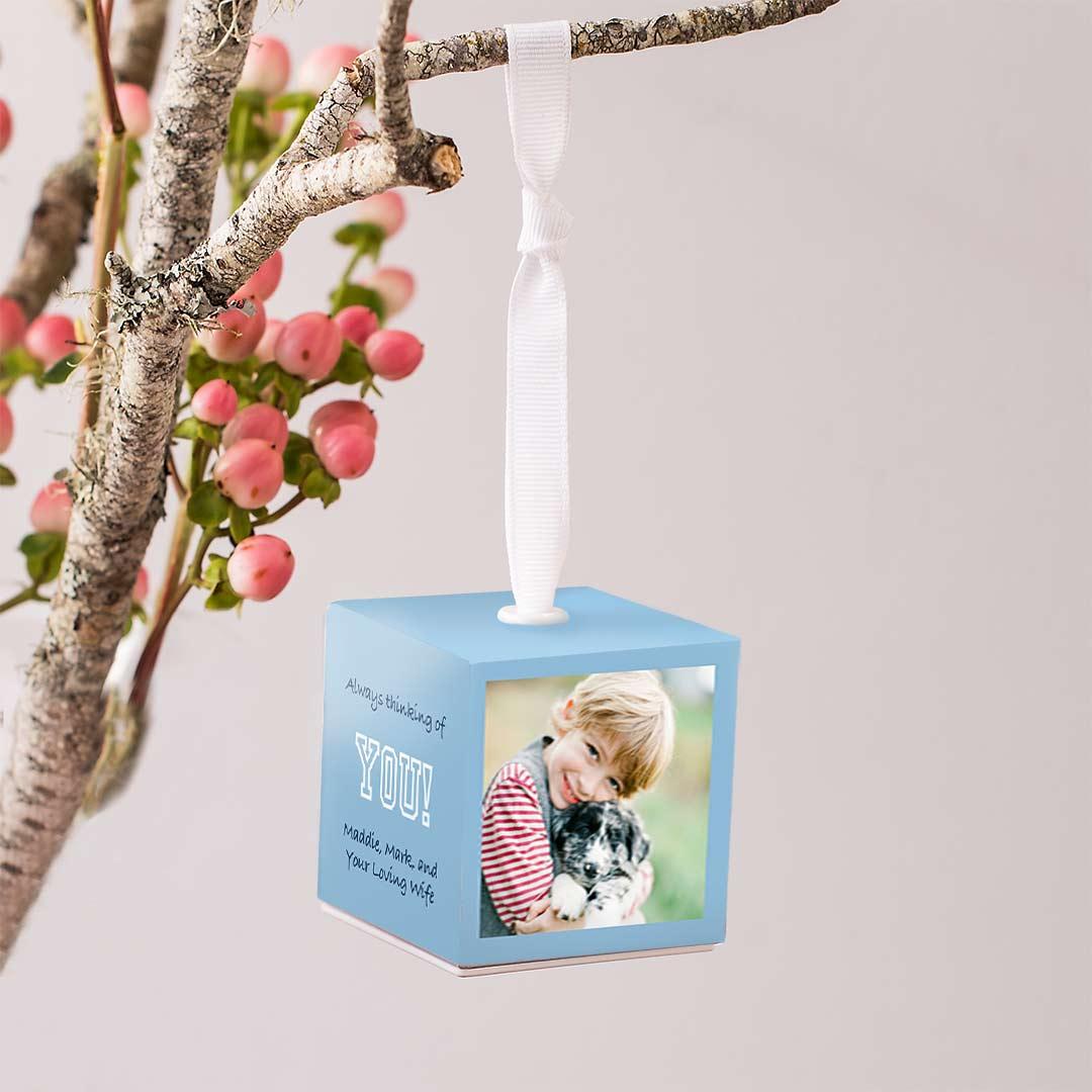 2x2 Photo Ornament Cube
