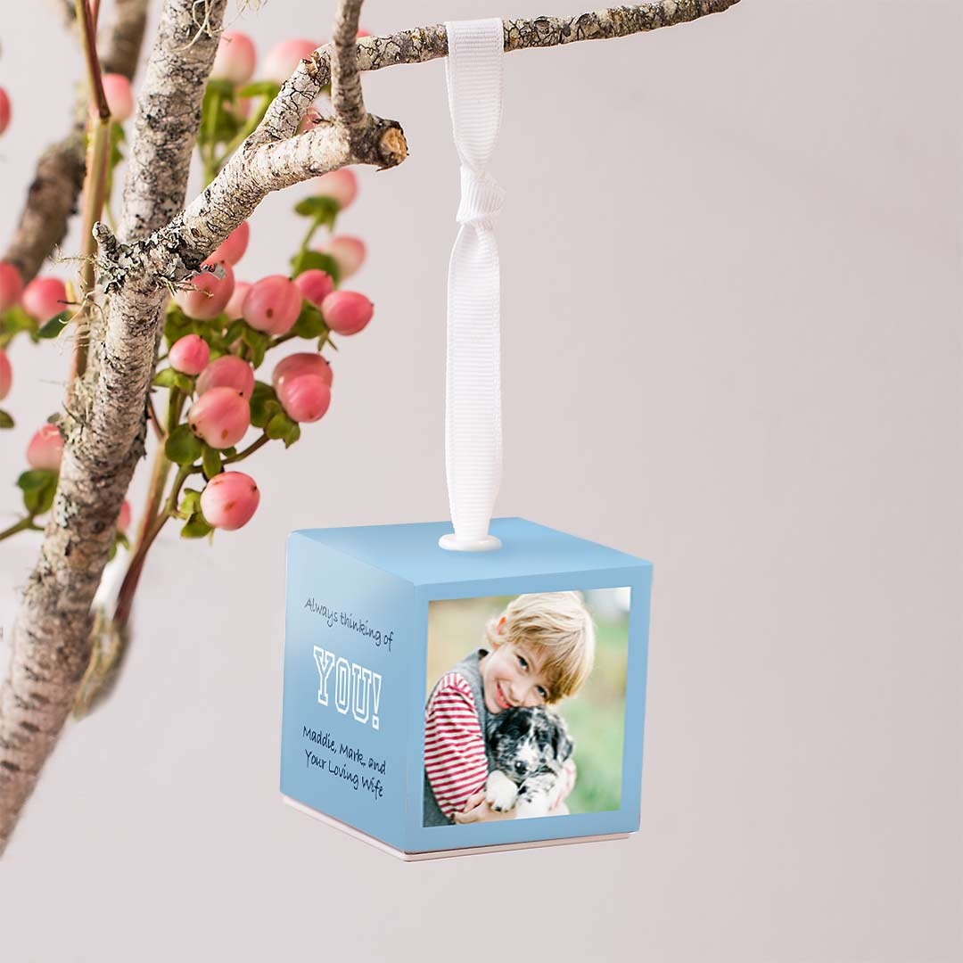 2x2 Photo Ornament Cube