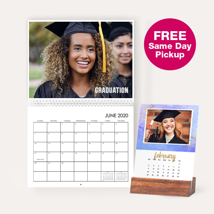 FREE same day pickup. Photo Calendars