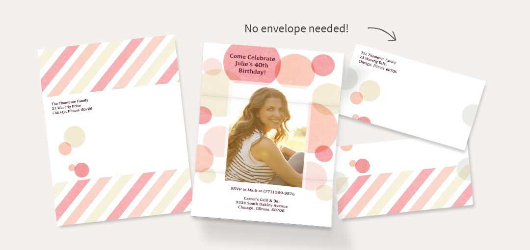 No envelope needed!