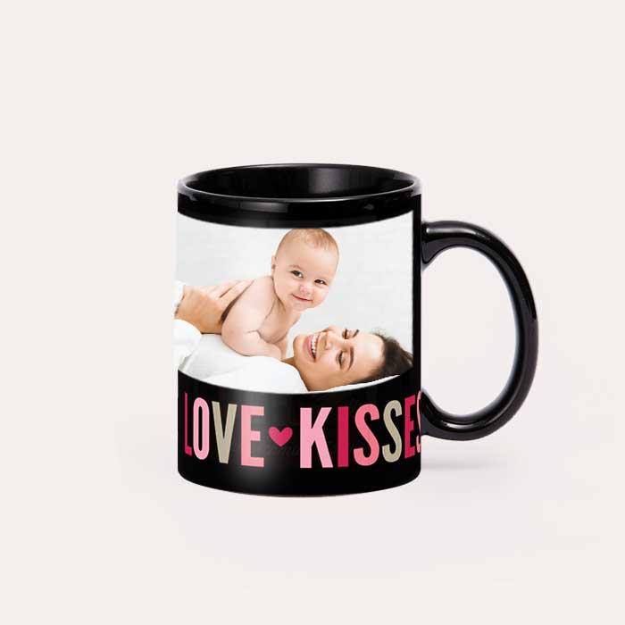 11 oz Black Ceramic Mugs