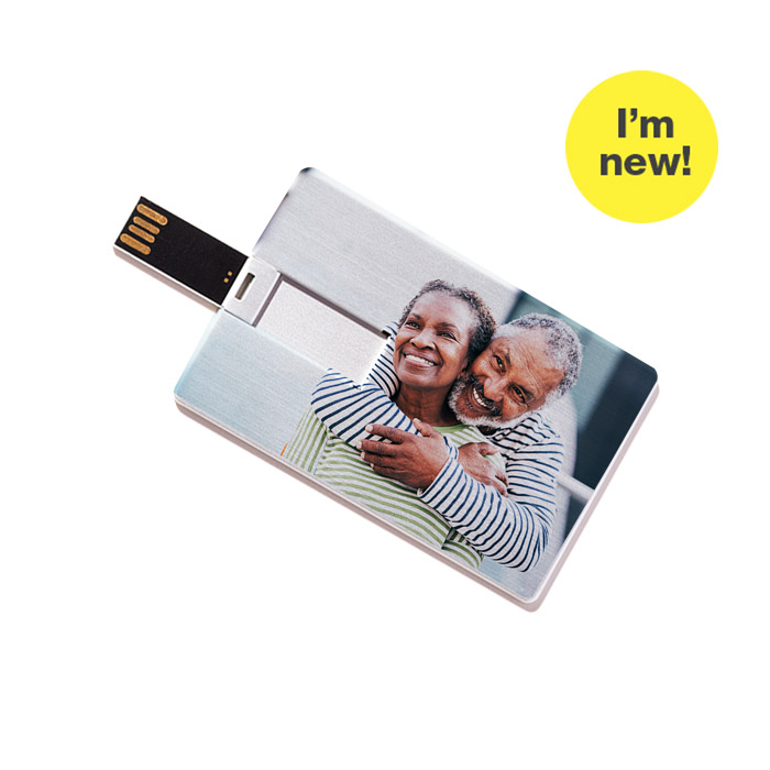 I'm new! Custom USB Flash Drive - Credit Card Style (Metal)