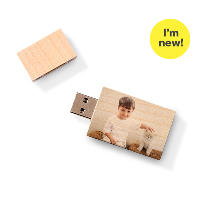 I'm new! Custom USB Flash Drive - Wood Block