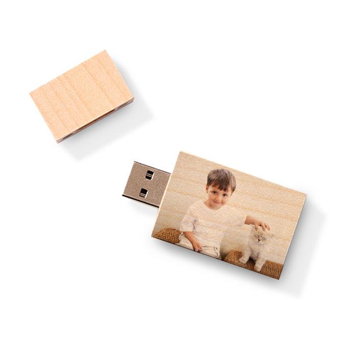 Custom USB Flash Drive - Wood Block