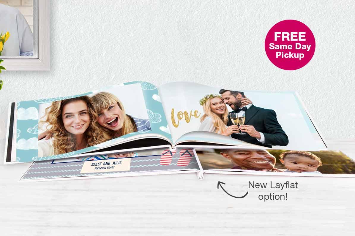 FREE Same Day Pickup. NEW! Layflat Photo Books