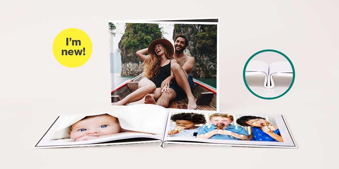 I'm new! 8.5x11 Layflat Custom Cover Photo Book