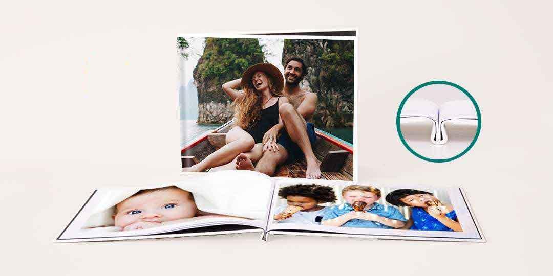 8.5x11 Layflat Custom Cover Photo Book