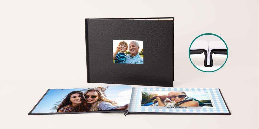 8.5x11 Layflat Window Cover Photo Book
