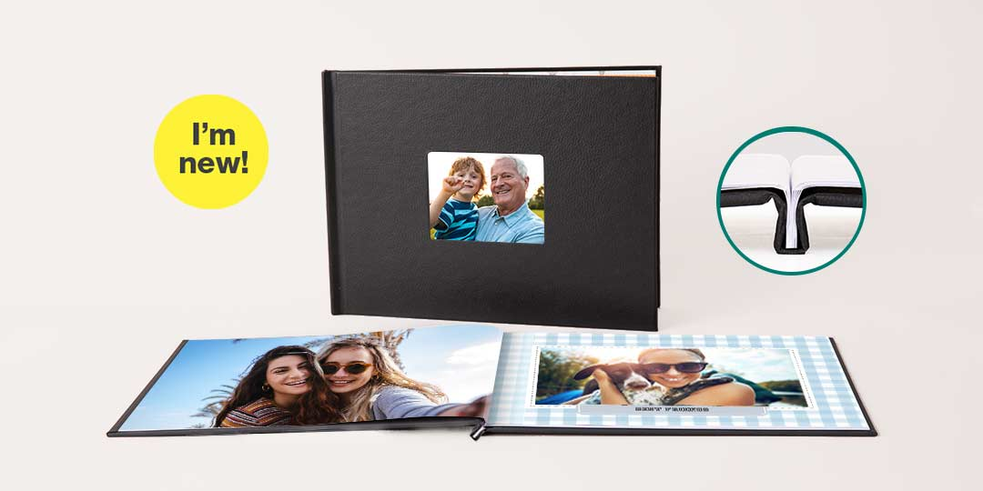 I'm new! 8.5x11 Layflat Window Cover Photo Book