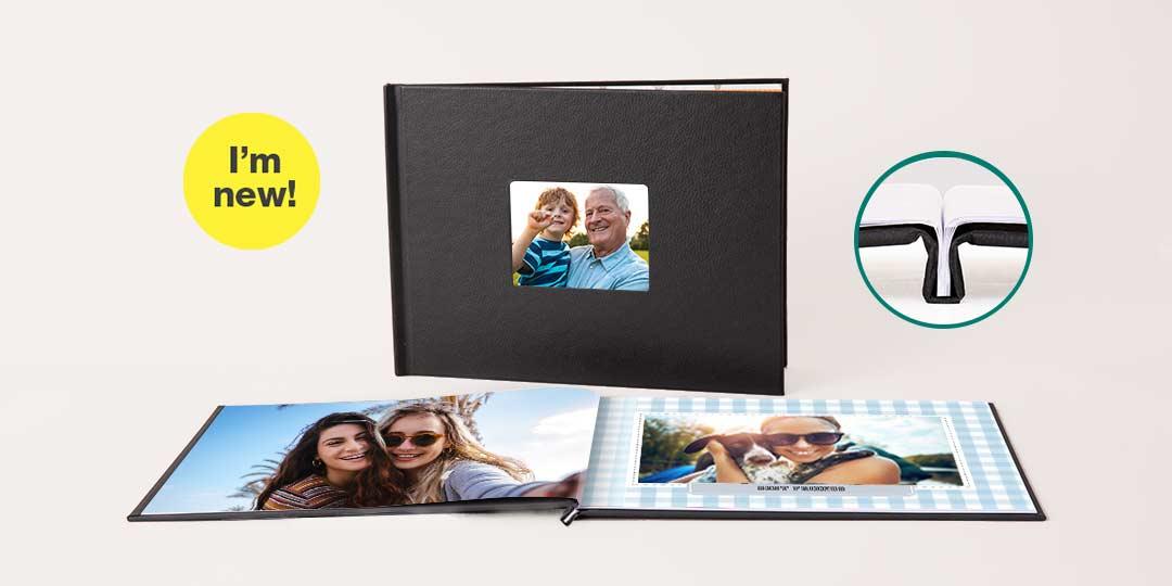 I'm new! 8.5x11 Layflat Window Cover Photo Book