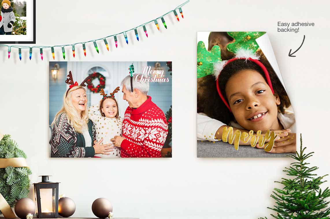 Walls filled with holiday cheer