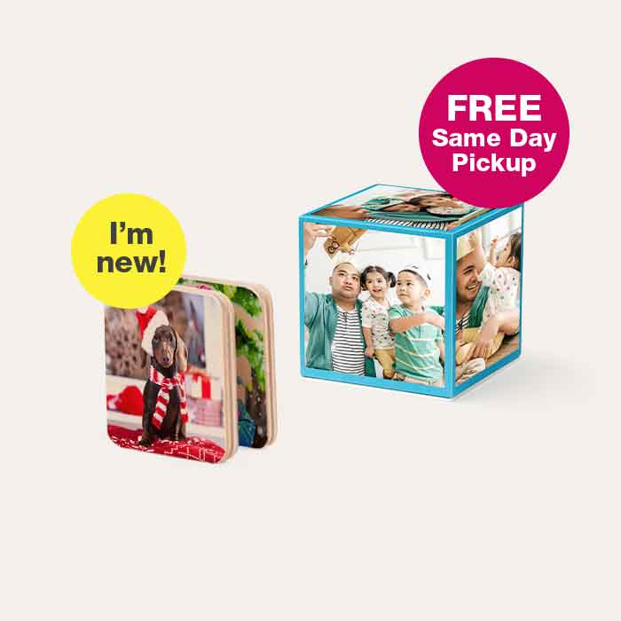 I'm new! FREE Same Day Pickup. 50% off Photo Gifts