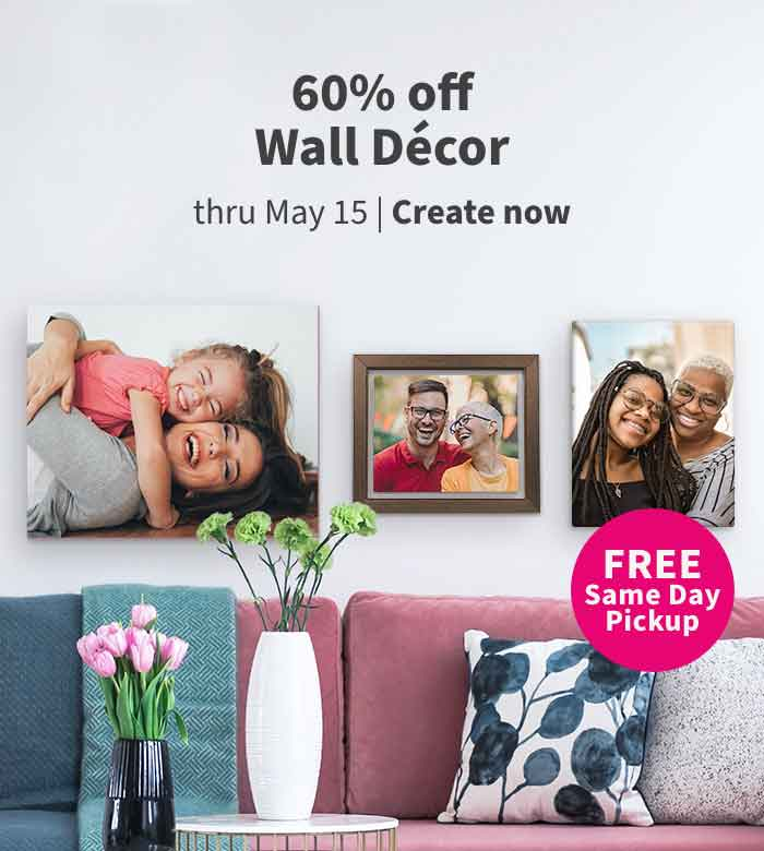 REE Same Day Pickup. 60% off Wall Décor thru May 15. Create now.