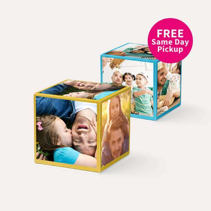 FREE Same Day Pickup. BOGO FREE Same Day Photo Cubes