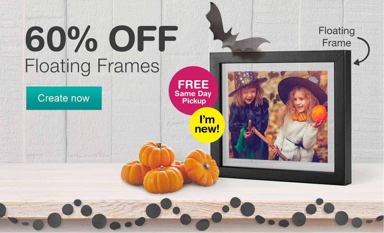 60% OFF Floating Frames. Create now. FREE Same Day Pickup.