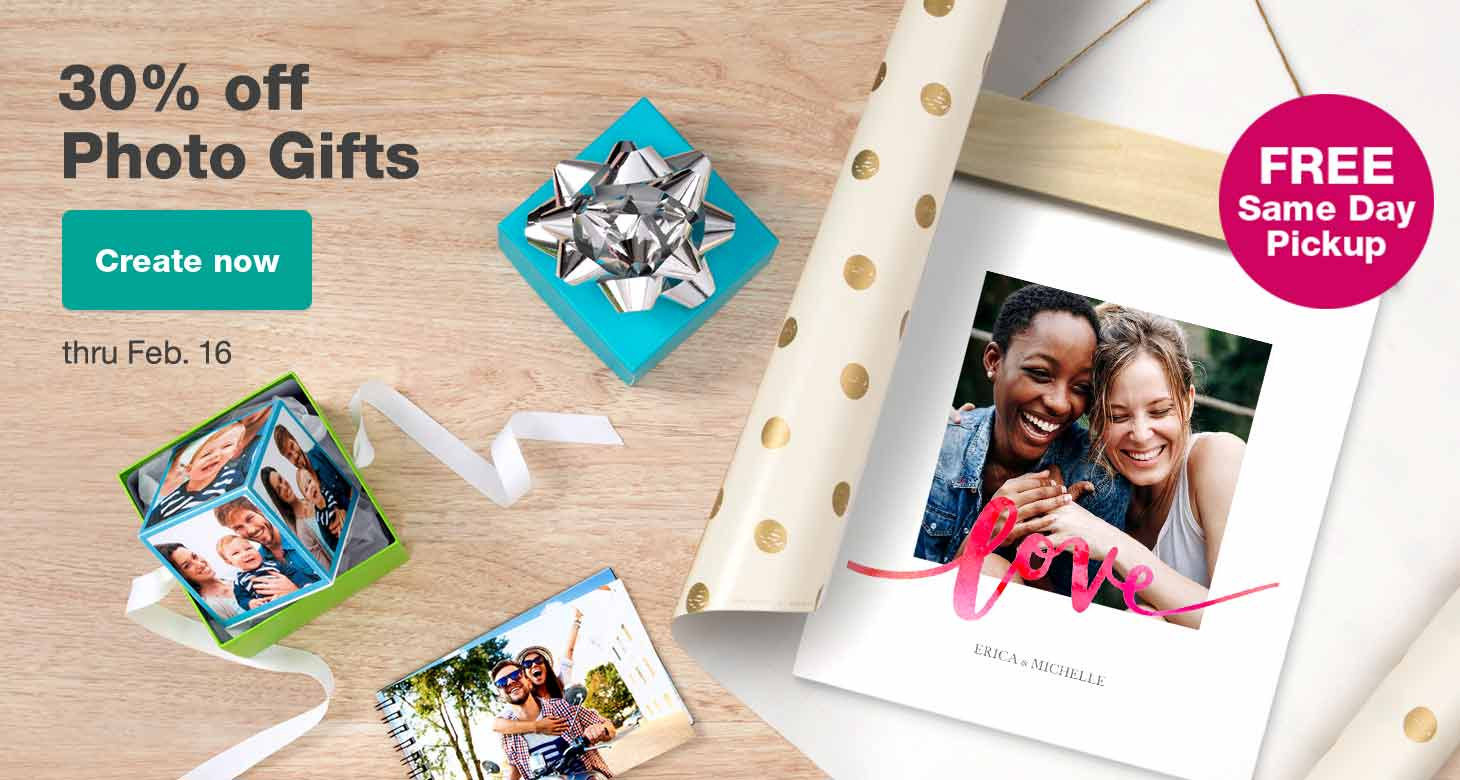 30% off Photo Gifts thru Feb. 16. Create now.