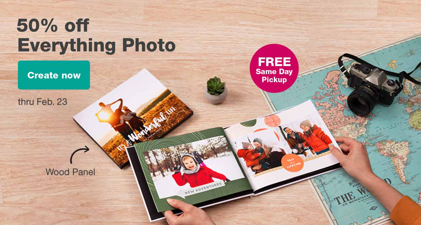 50% off Everything Photo thru Feb. 23. Create now.