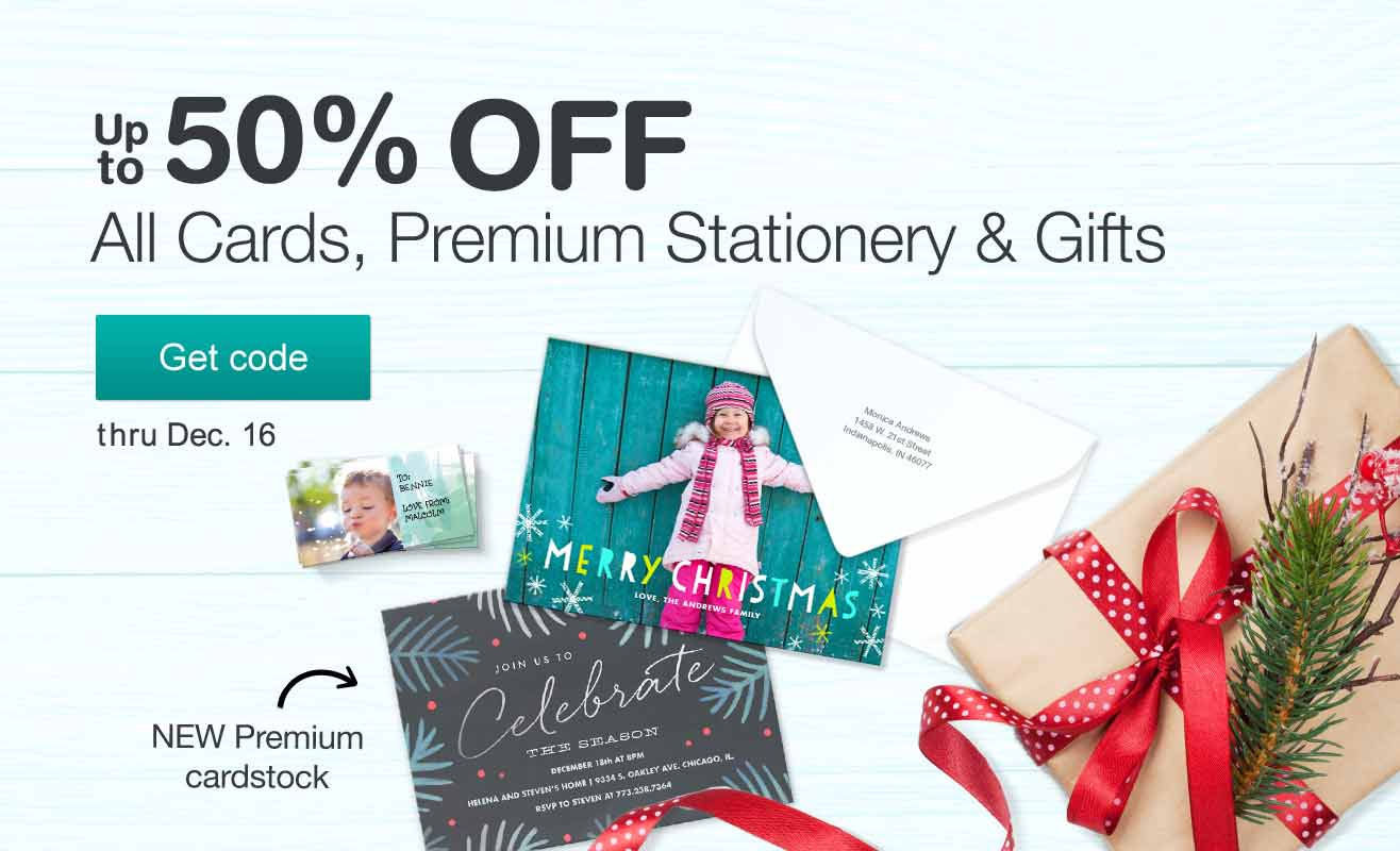 Up to 50% OFF All Cards, Premium Stationery & Gifts thru Dec. 16. Get code.