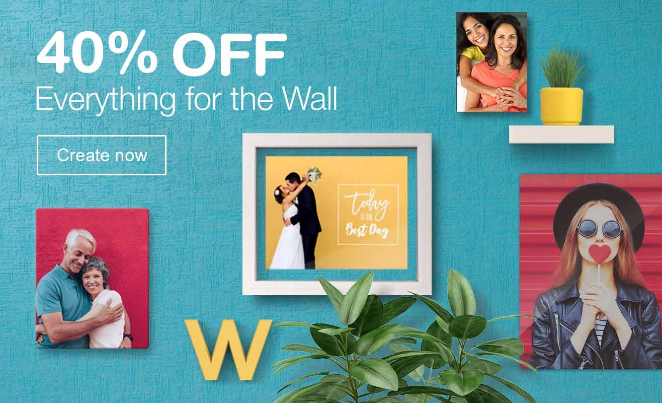40% OFF Everything for the Wall. Create now.