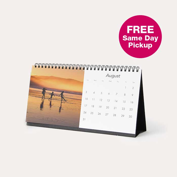 $4 Desktop Calendar. FREE Same day Pickup.